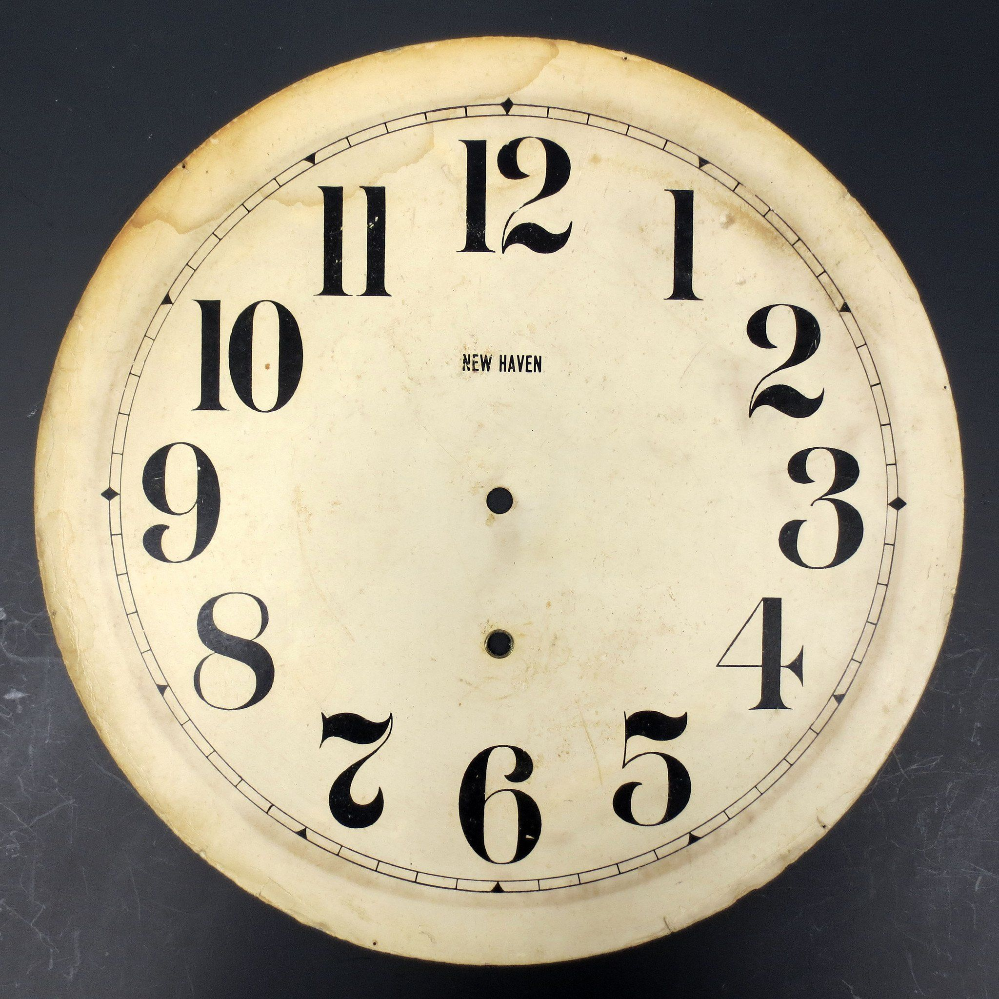 Vintage Large New Haven Wall Clock Dial Face 13 Regulator Wall Clock Store Box Wall Clock Dial Wall Clock Clock