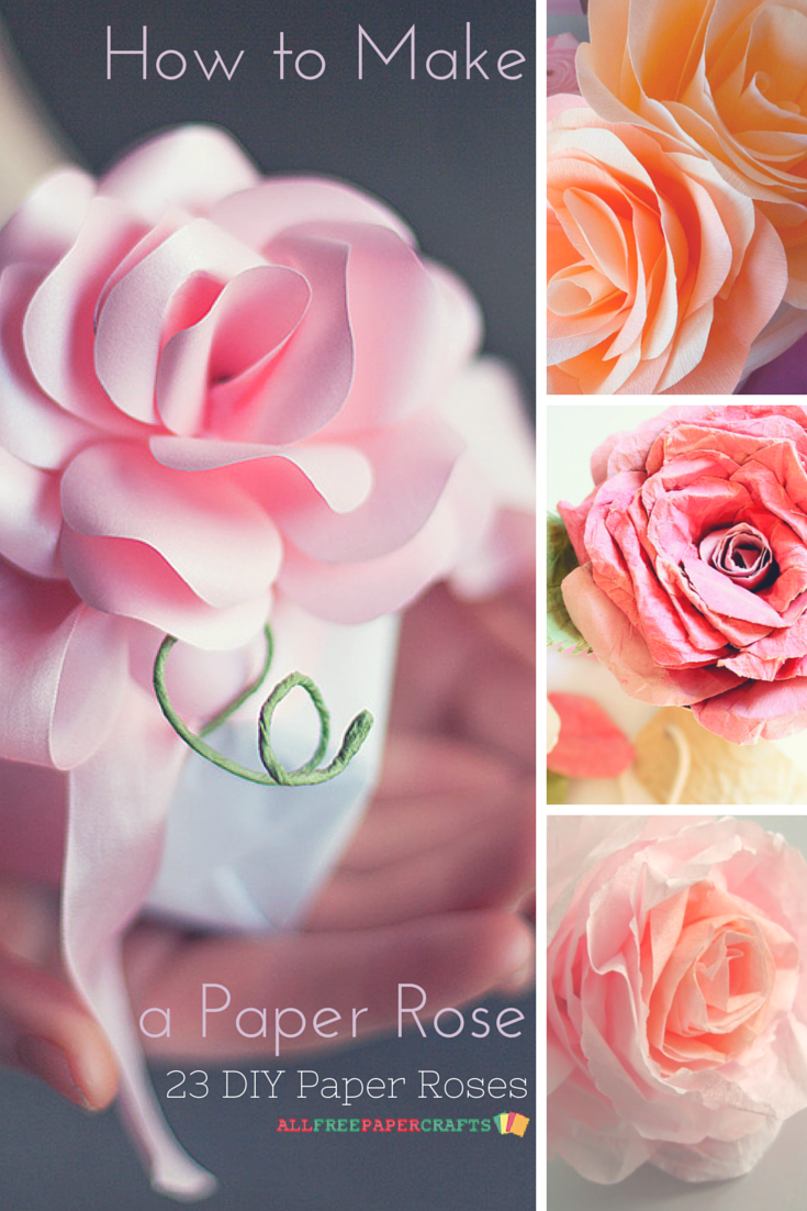 How to make a paper rose 30 diy paper roses mightylinksfo