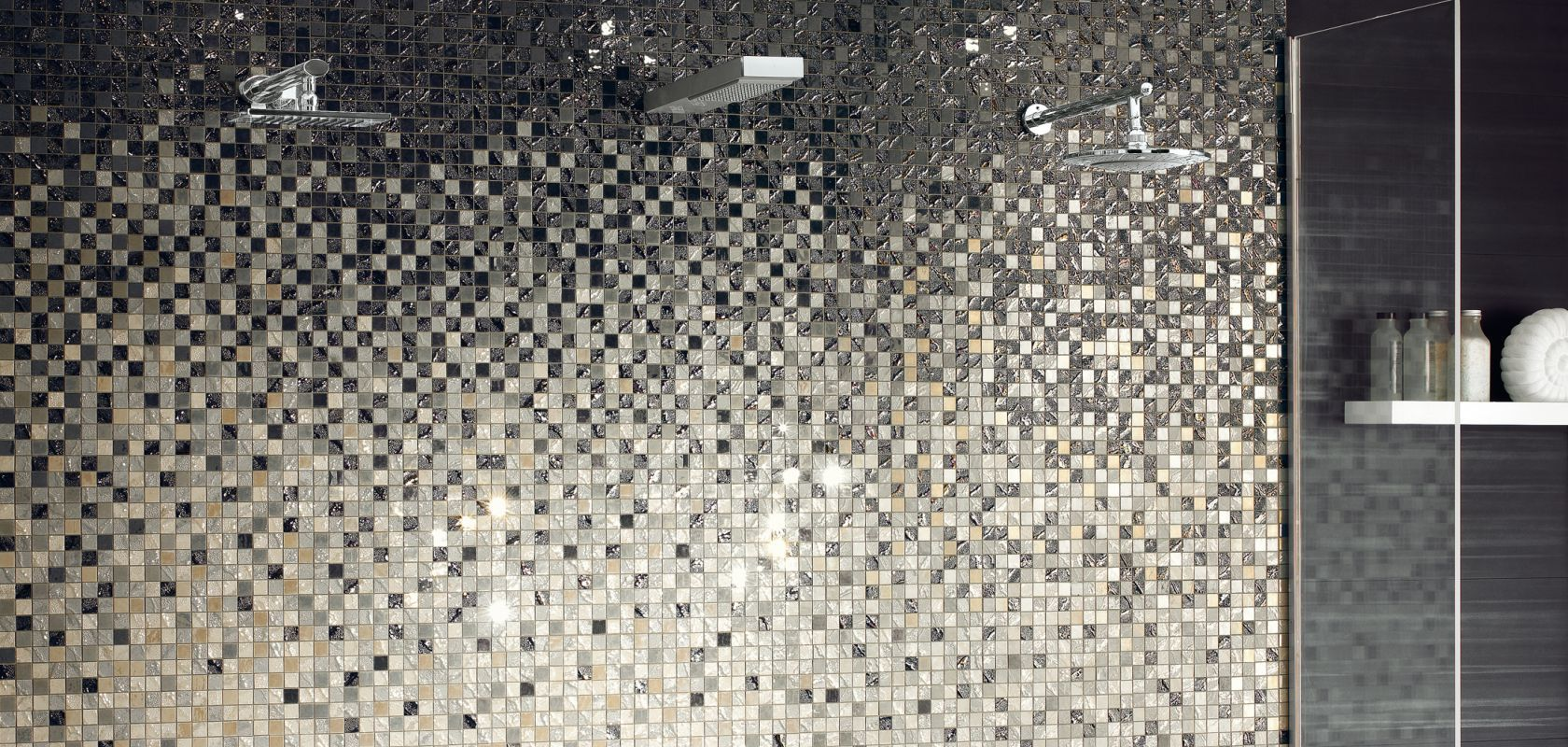 Four seasons mosaic tile collection from ceramiche for Salle de bain bois et mosaique