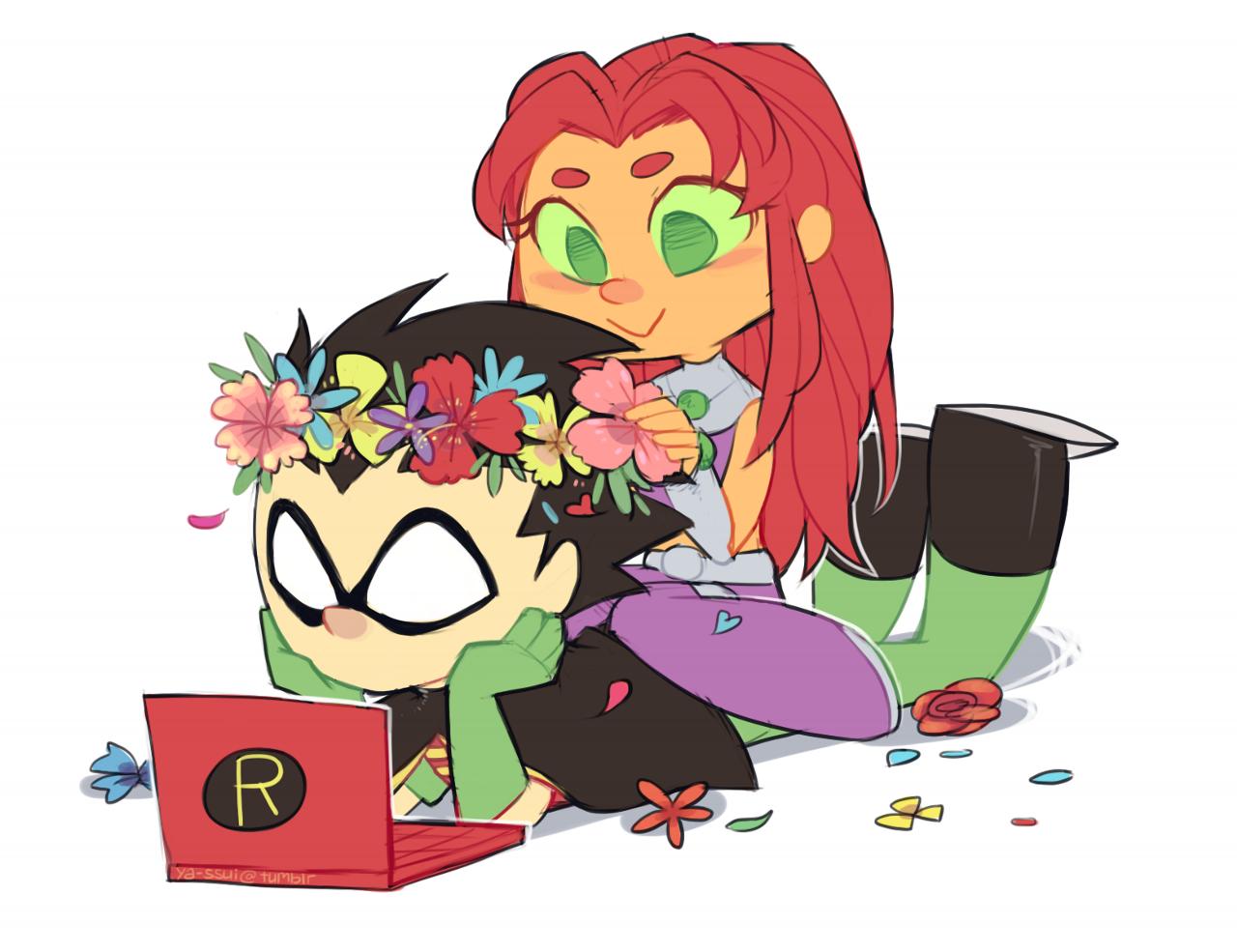 Teen titans starfire and robin shrine