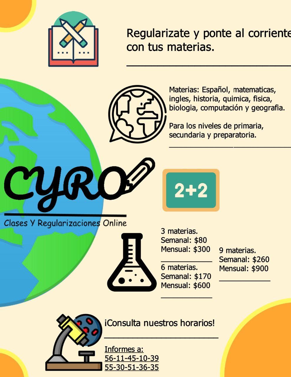 Clases Virtuales Para Primaria Secundaria Y Preparatoria Clases De Computacion Clase De Matemáticas Carteles De La Escuela