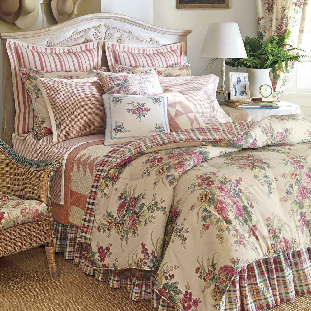 New Ralph Lauren Chaps Wainscott King 4pc Comforter Set
