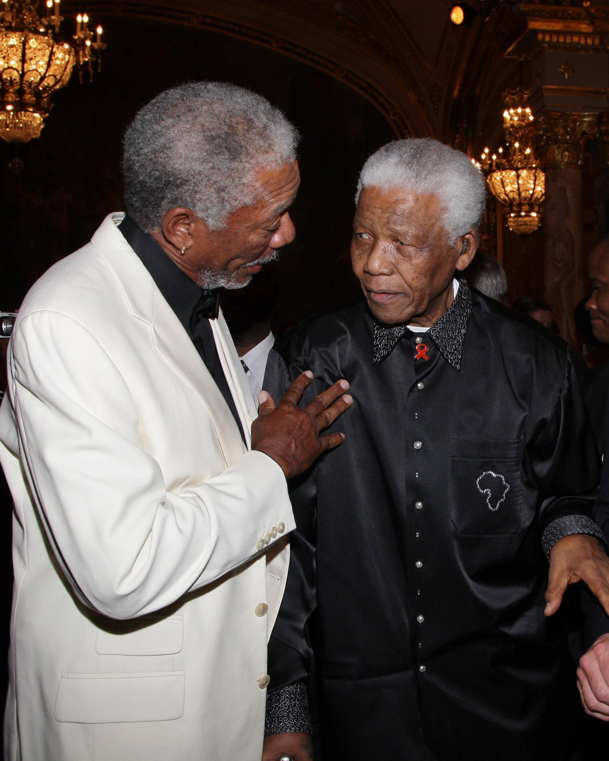 Morgan Freeman with Nelson Mandela | My Favorite Actor ...