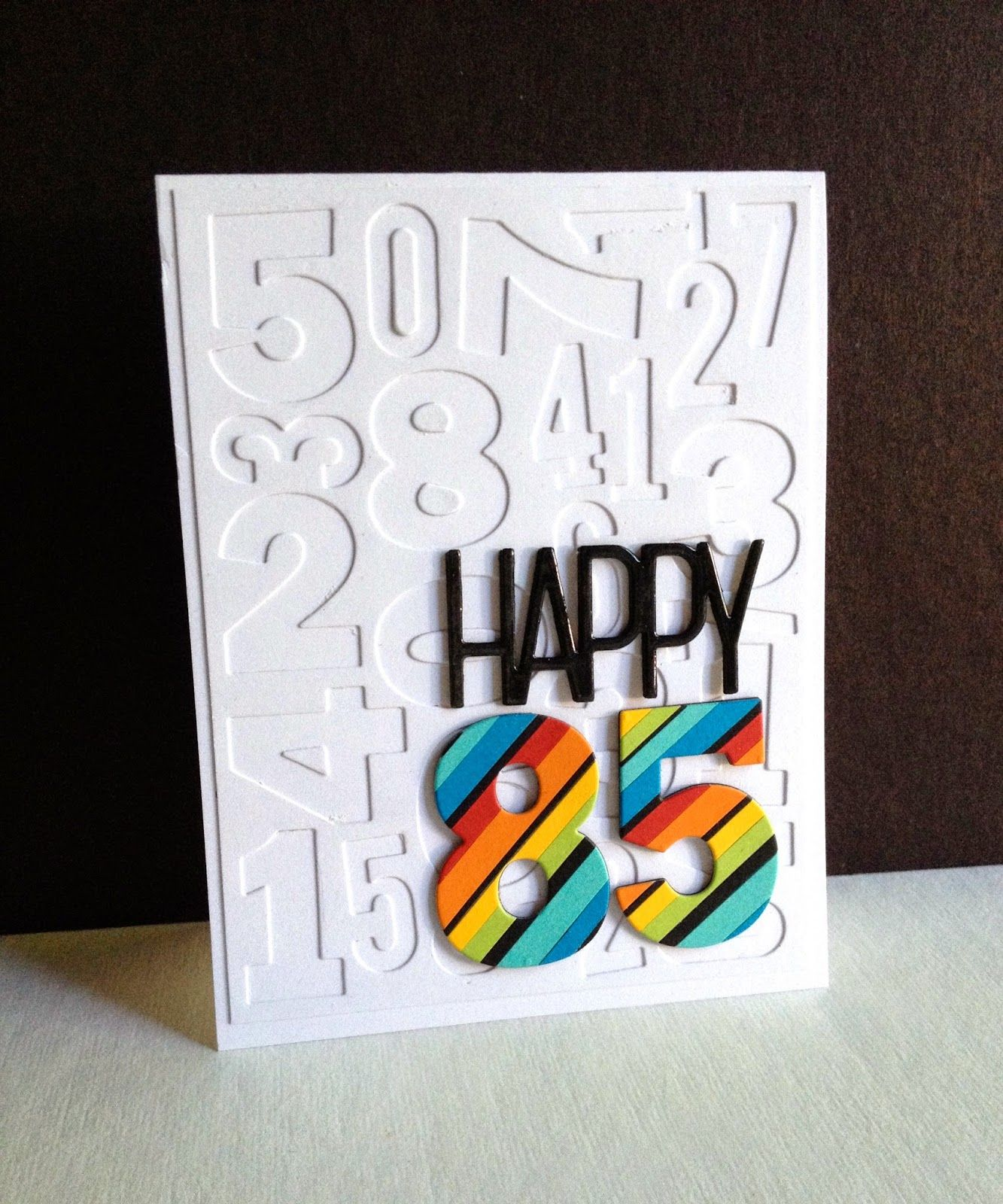 Happy 85 Dad I M In Haven Birthday Cards Birthday Cards Diy Embossed Cards