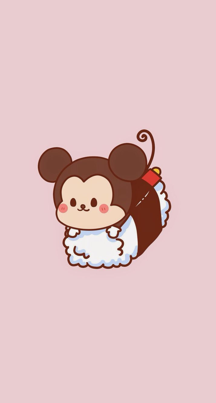 Sushi Micky In 2019 Cute Disney Drawings Cute Cartoon