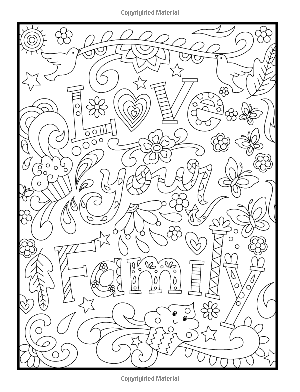 inspirational flower coloring pages - photo#9