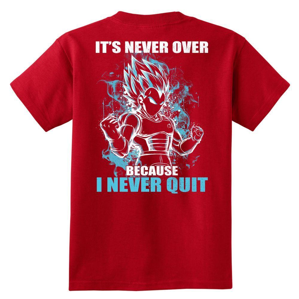 Super Saiyan - Vegeta SSJ Blue Never Quit - Youth Kid T Shirt - TL00879YS
