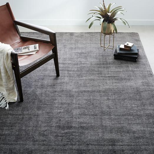 Mid Century Heathered Basketweave Wool Rug Steel West Elm Carpet Trends Rugs Modern Rugs