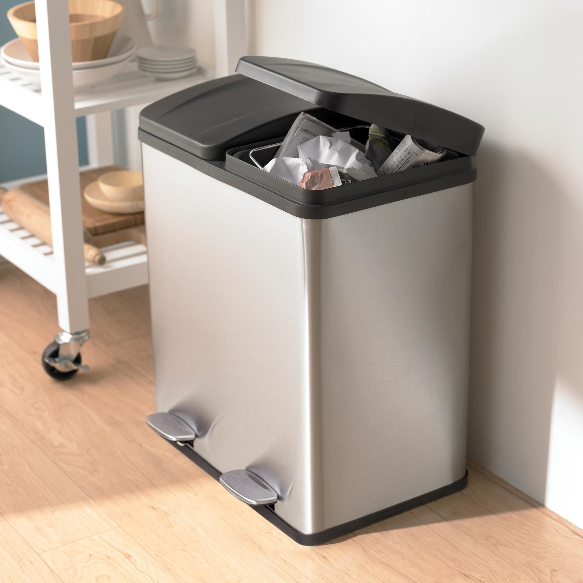 ksp duplex double step garbage recycling can in 2020 garbage recycling kitchen trash cans on kitchen organization recycling id=32779