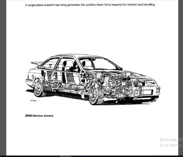 Ford Sierra Rs Cosworth 1985 1987 Workshop Manual Pdf Download