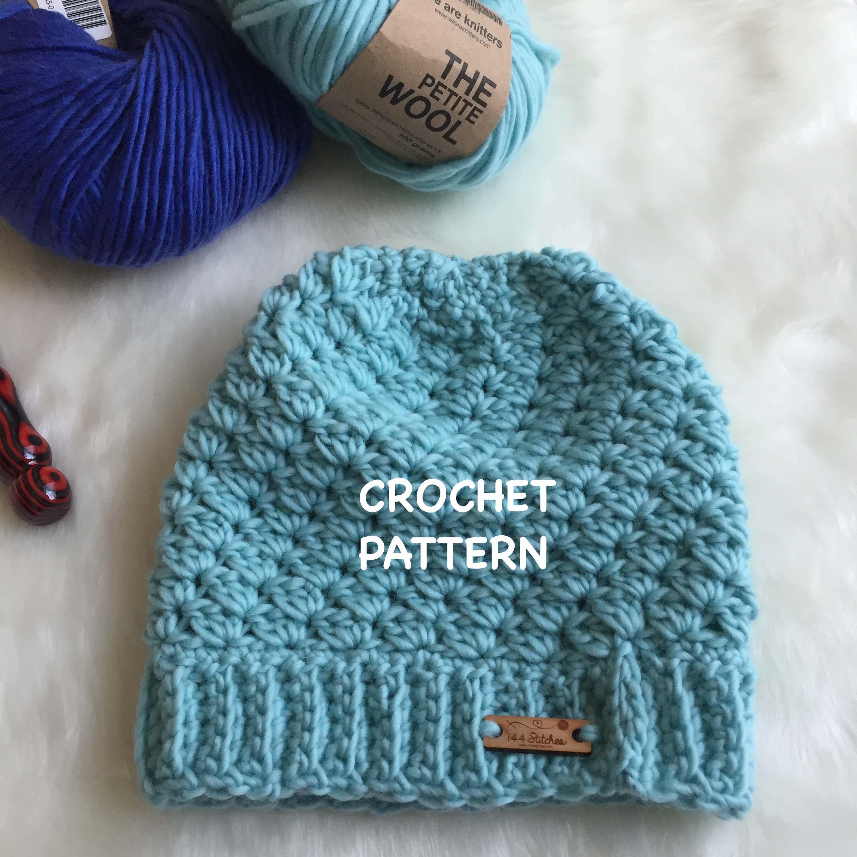 Townsend Crochet Beanie Pattern http://www.144stitches.com/crochet ...