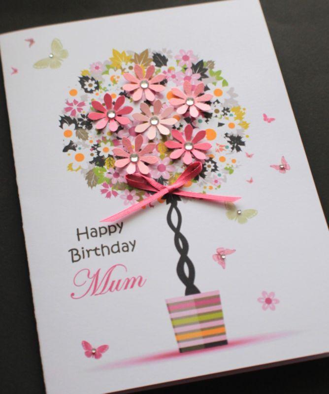 handmade birthday card for mum  google search  simple