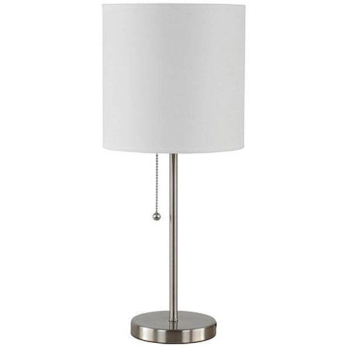 Mainstays Stick Table Lamp With Shade Cfl Bulb Included Walmart Com Lamp Table Lamp Nightstand Lamp