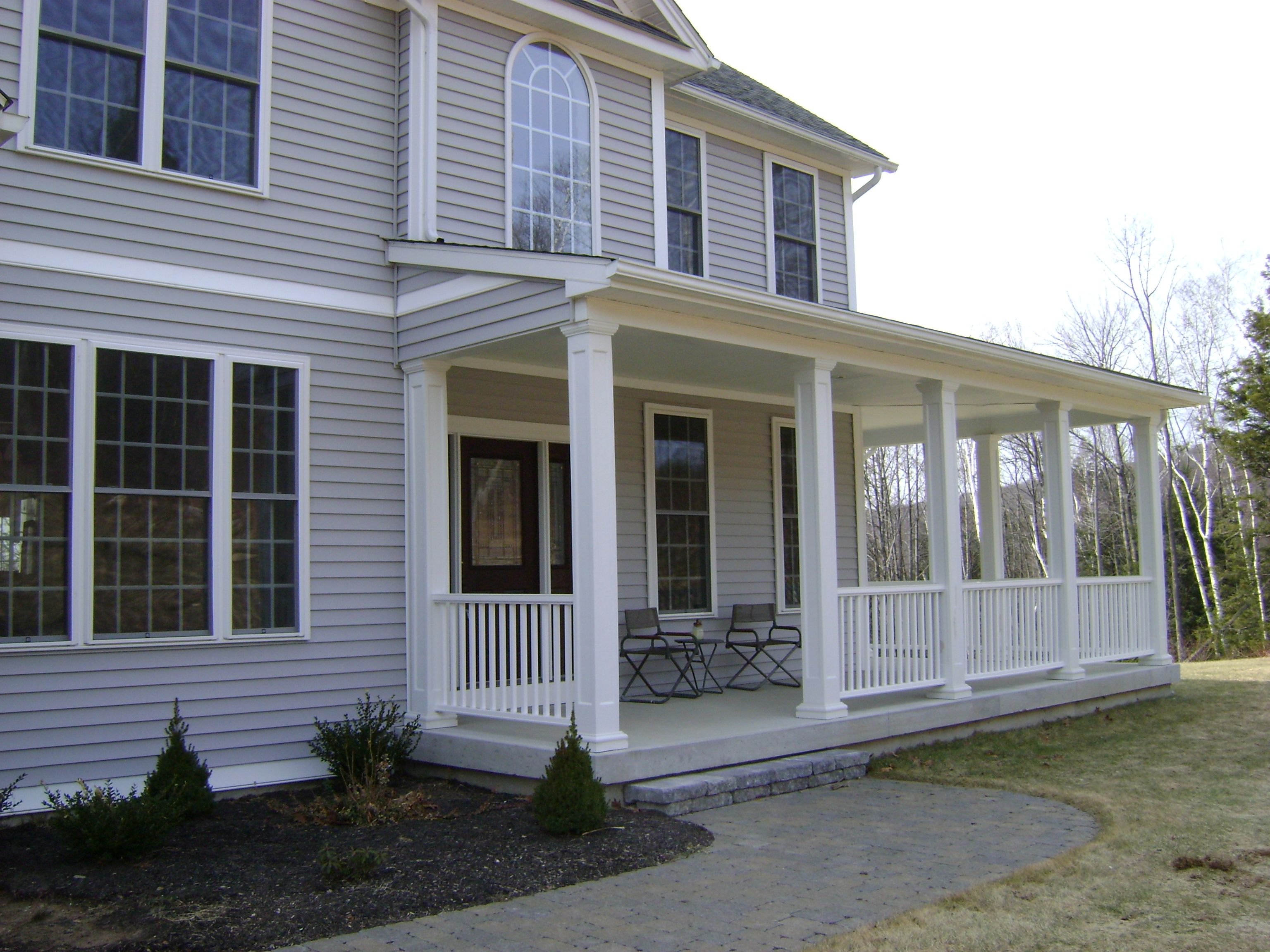 Front porch jpg like this but scaled to my house for Front porch patio ideas