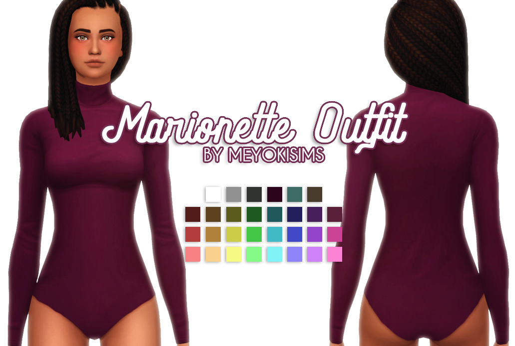 Lana CC Finds - meyokisims: Marionette Outfit - The Sims 4