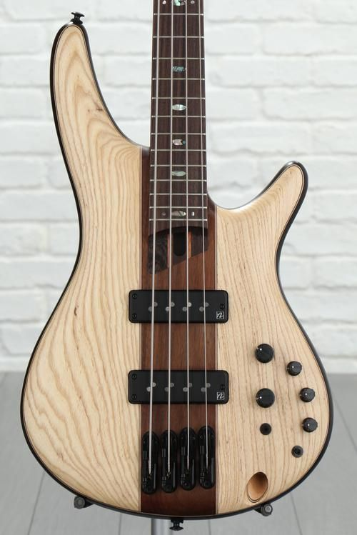 4-string Electric Bass with Mahogany Body, Ash/Walnut Top, Wenge ...
