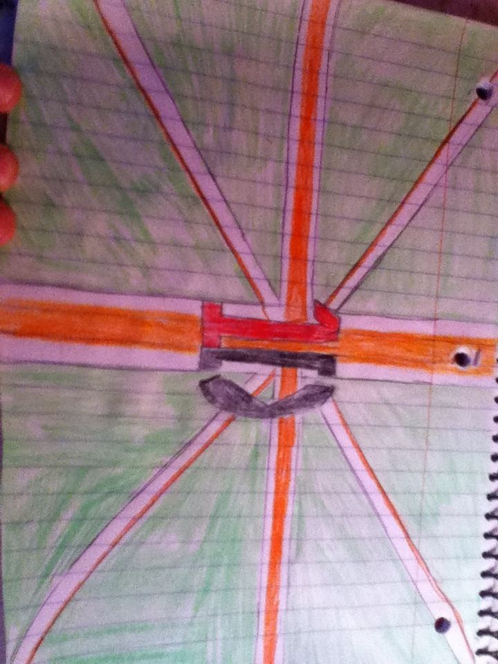 My attempt to draw the directioner flag<<< I just love that we have our own flag :)