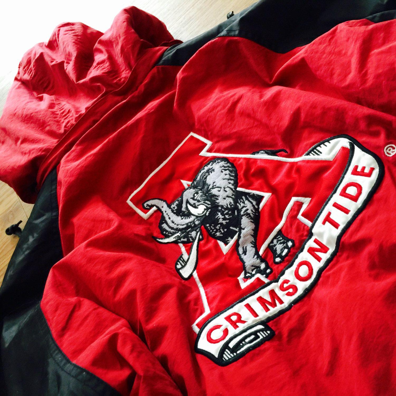 Vintage Alabama Crimson Tide PullOver Starter Jacket   Alabama ...