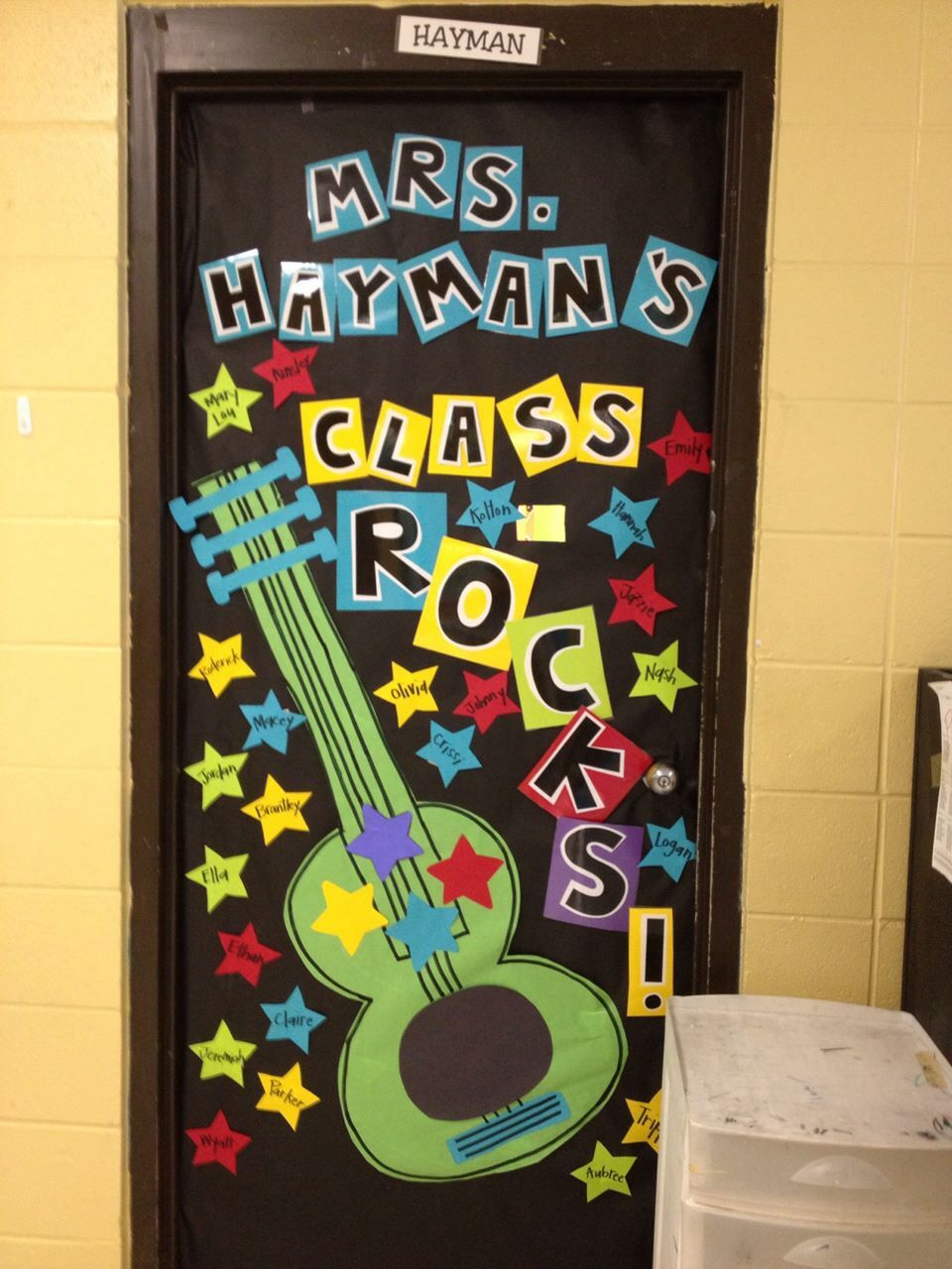 Rockstar themed door Pinning so I can remember what I did ...
