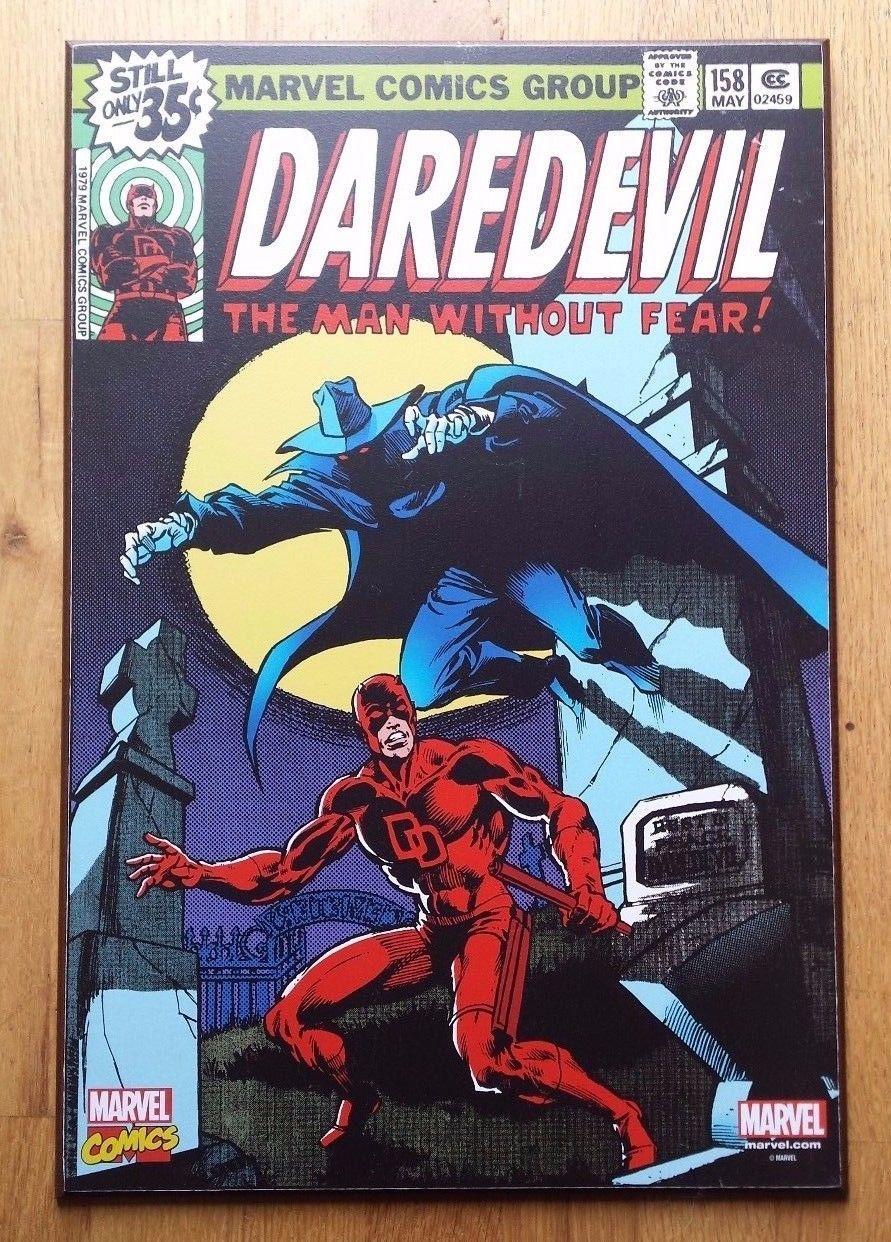 Rare Marvel Comics Daredevil 158 Comic Book Cover Wooden Wall Art