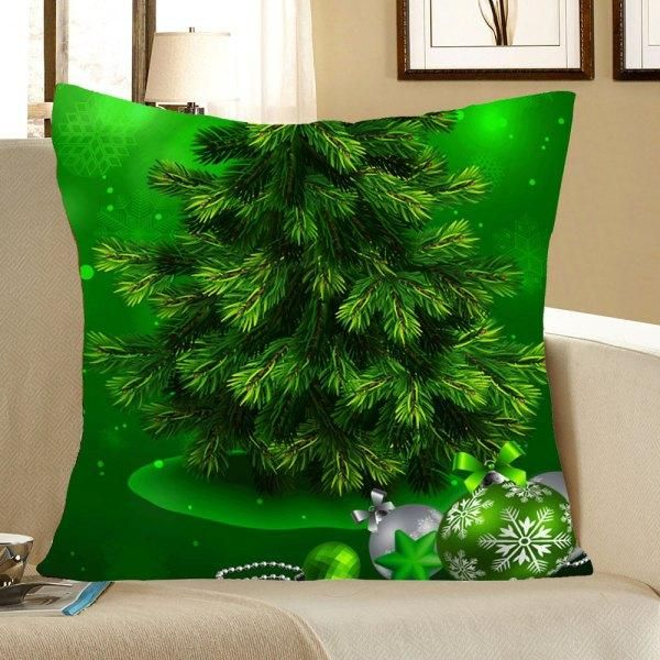 RoseWholesale - #Rosewholesale Green Christmas Tree Pattern Pillow
