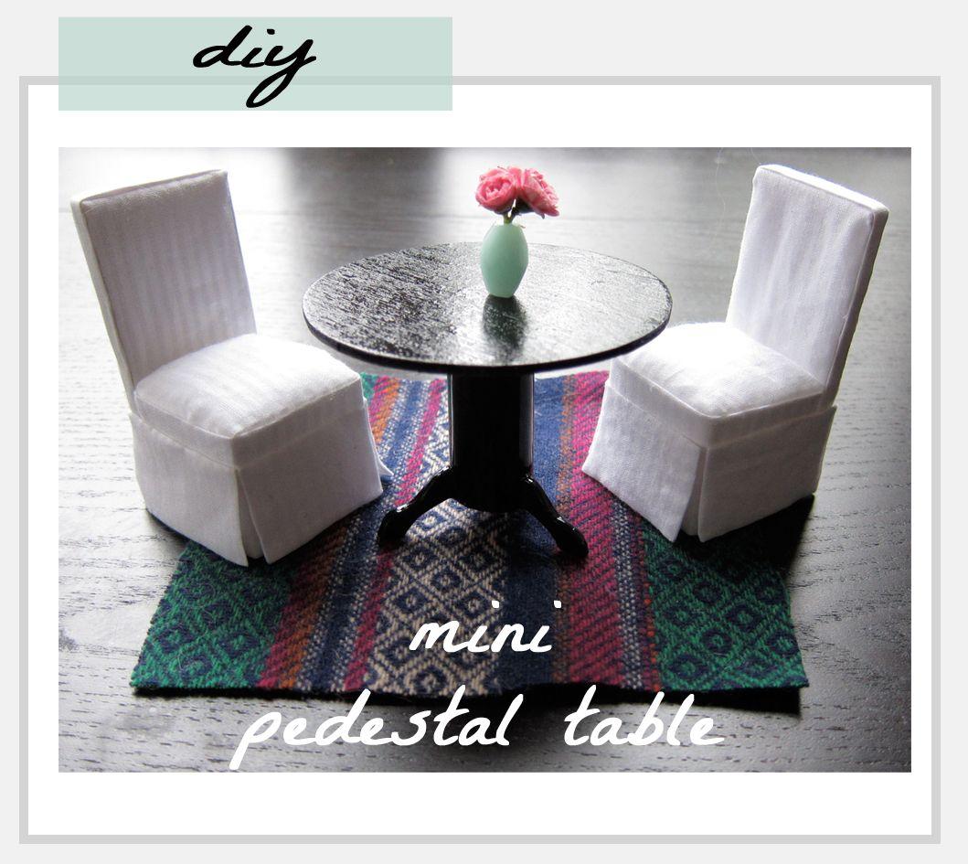 Diy mini pedestal table dollhouse miniatures for Pedestal table diy