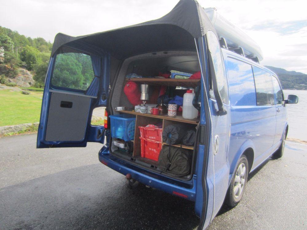 Kiravans Barn Door Awning VW T5 Campervan Conversion Barndoor