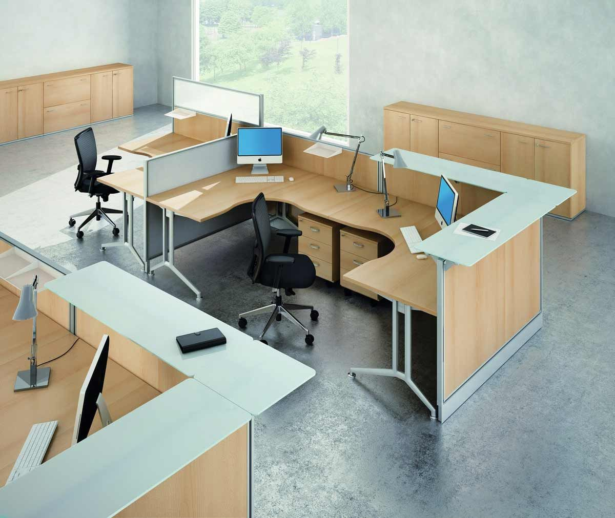 Modular Desk System Provides People The Chance To Run Their Business And  Work In A Limited Space.