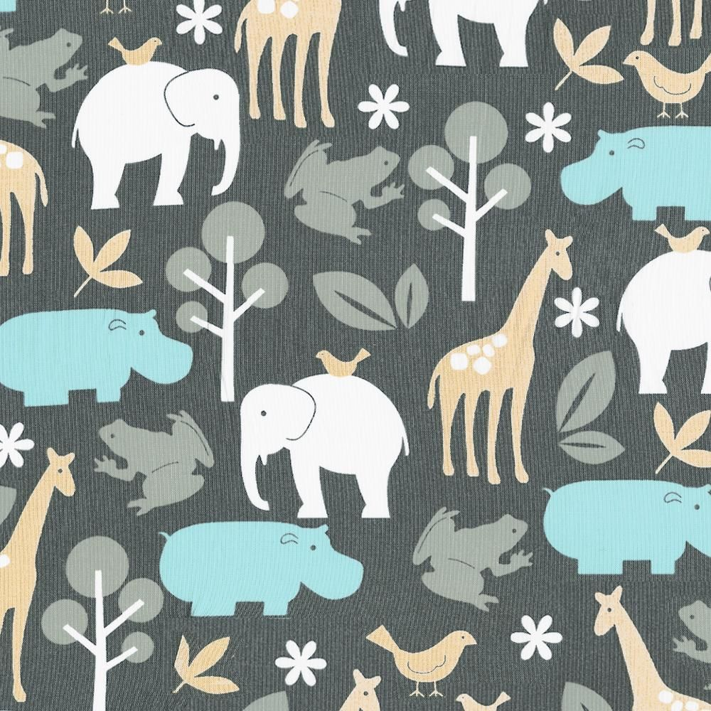 Gray Zoology Fabric by Carousel Designs.