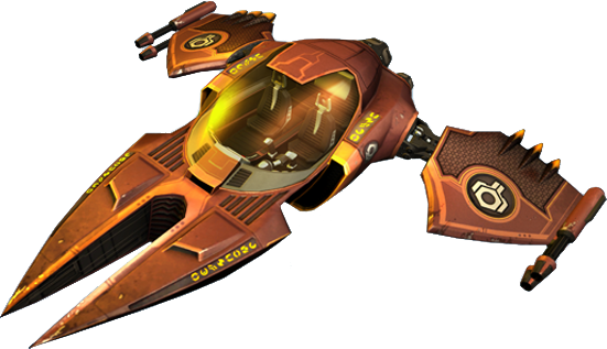 Ratchet and Clank spaceship. I had to throw one of these