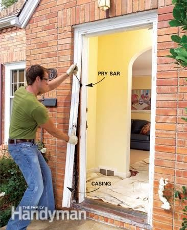 How To Replace An Exterior Door Home Repair Pinterest Doors