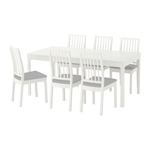 Ekedalen Ekedalen Table And 6 Chairs White Orrsta Light Gray Ikea Ikea Dining Table Set Ikea Dining Table Dining Room Tables Ikea