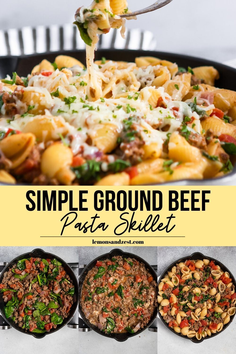 Simple Ground Beef Pasta Skillet In 2020 Healthy Beef Recipes Delicious Beef Recipe Ground Beef Recipes