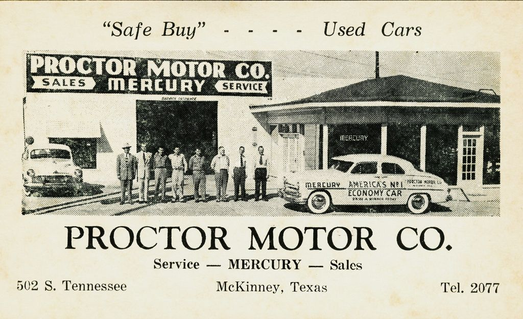 Proctor Motor Co. Mercury, McKinney, TX Mckinney, Car
