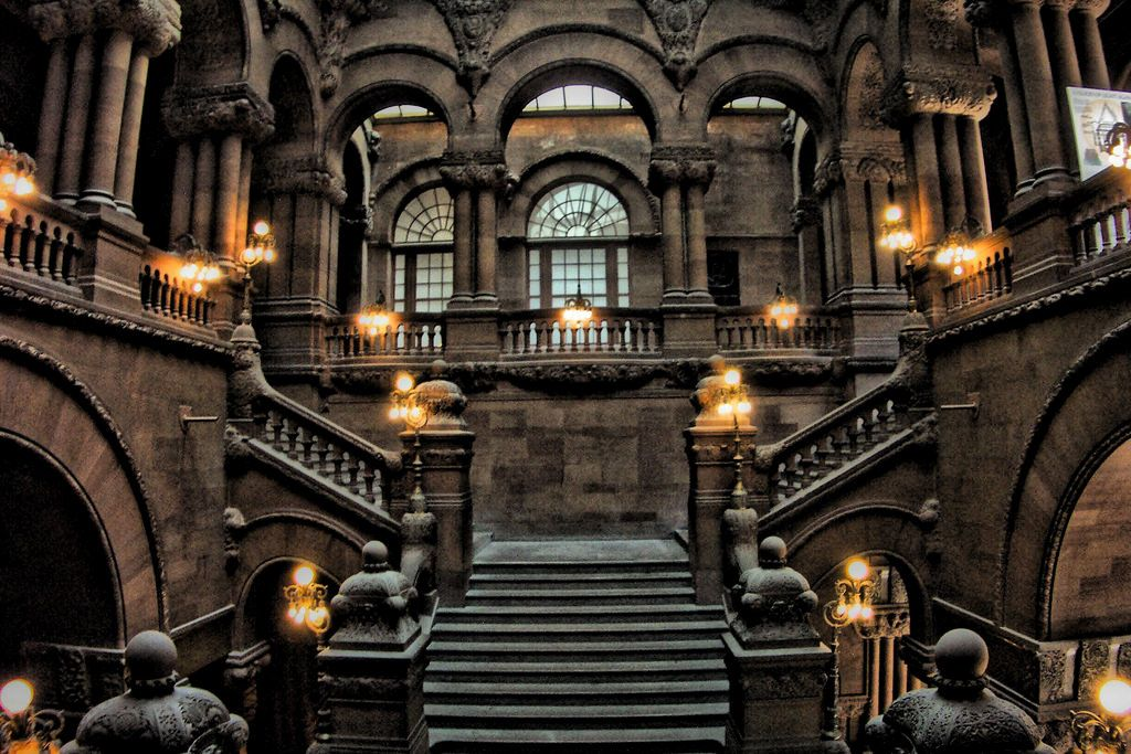 New York State Capitol ~ Albany New York ~ Million Dollar Staircase .