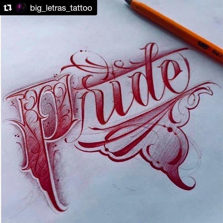 Custom Lettering On Instagram Artista Big Letras Tattoo Chicanolettering Letteringta Graffiti Lettering Chicano Lettering Tattoo Fonts Alphabet