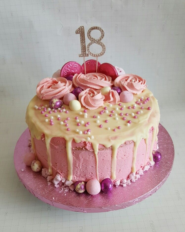 Strawberry buttercream 18th birthday cake Torten Pinterest