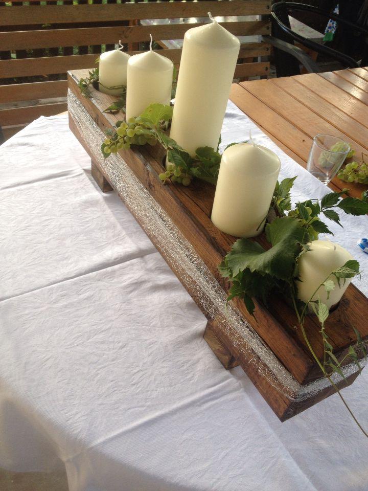 Kerzenst nder aus einem alten holzbalken deko pinterest holzbalken holz und alter balken - Deko aus alten sachen ...