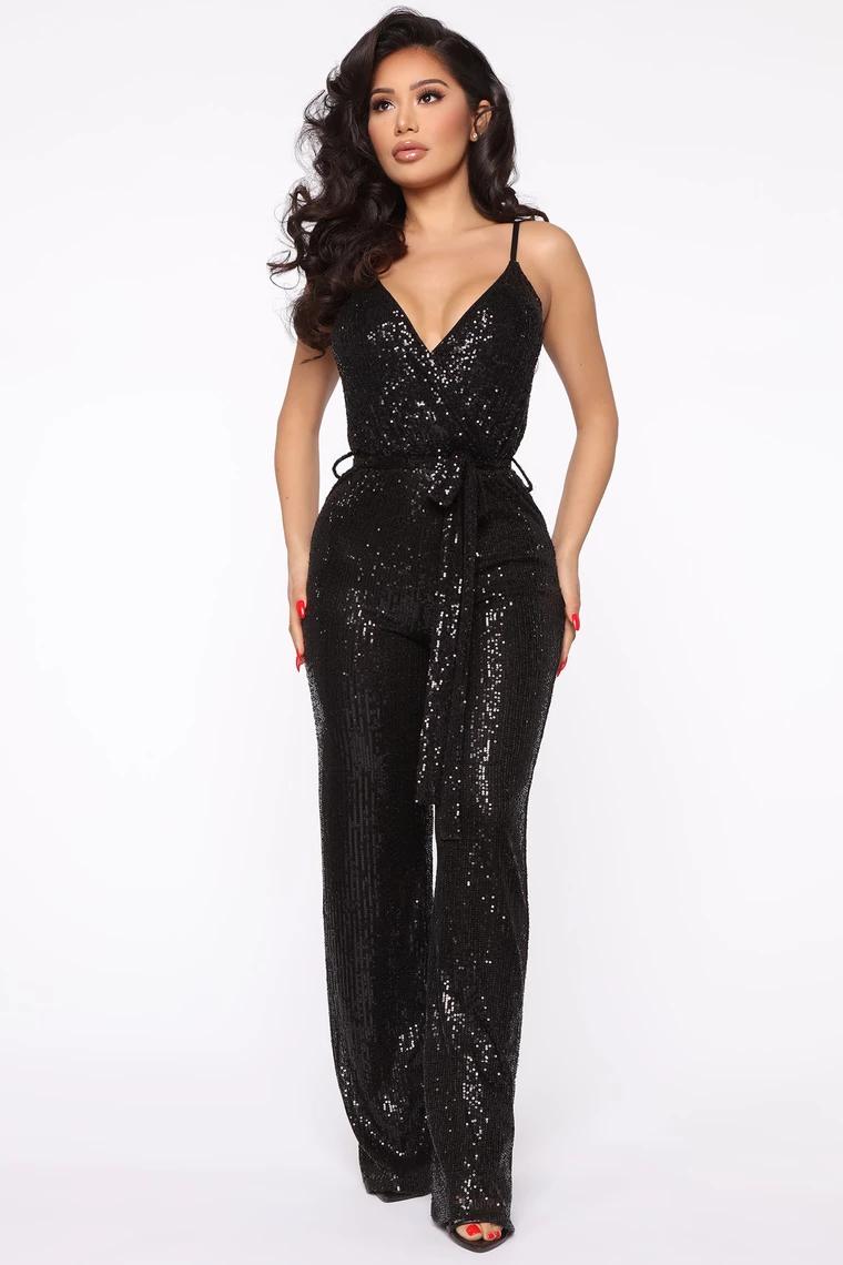 Can T Hide The Shine Sequin Jumpsuit Black Sequin Jumpsuit Black Sequin Jumpsuit Shop Black Dresses [ 1140 x 760 Pixel ]