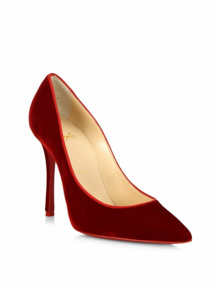 19397a3d68ee ENDING SOON  100% AUTH NEW WOMEN LOUBOUTIN NEW DECOLTISH 100 RED SUEDE HEELS  PUMPS US 8  shoes  designer