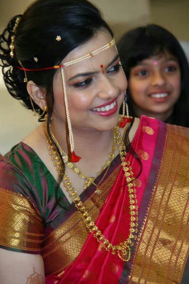 Marathi Bridal Makeup And Hairstyle : Traditional look maharashtrian jewellery