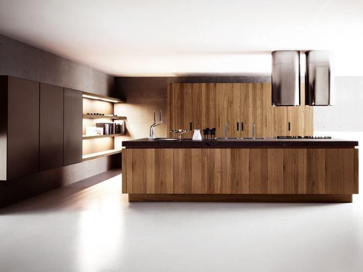 Cucina Noce Moderna.Cucina In Noce Con Isola Yara Composizione 3 By Cesar