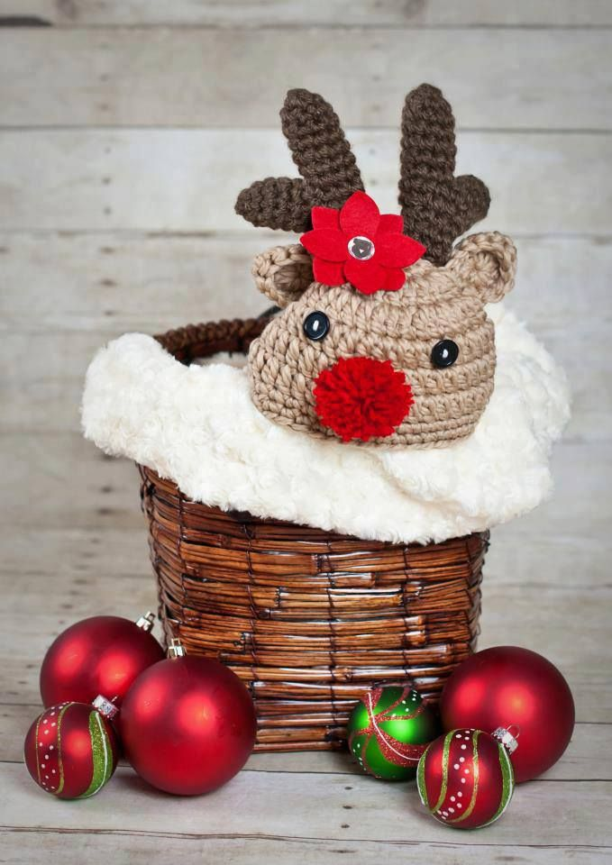 Crochet Baby Christmas Reindeer Hat | crochet by Girpeedee Creations ...