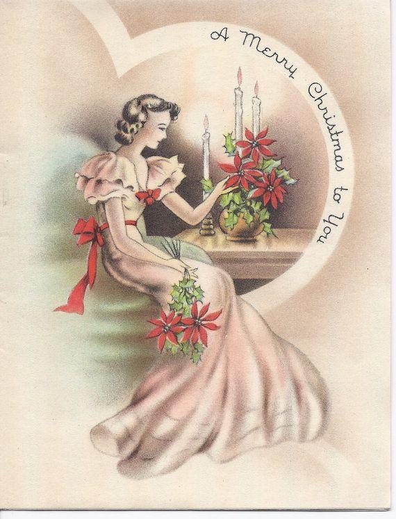 Vintage Christmas Greeting Vintage Christmas Cards Vintage