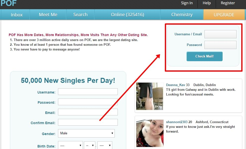 Plenty of fish online dating email for help