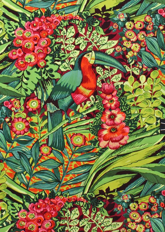 Alexander Henry Fabric Brazilia Hot Pink By the Yard. $8.50, via Etsy.