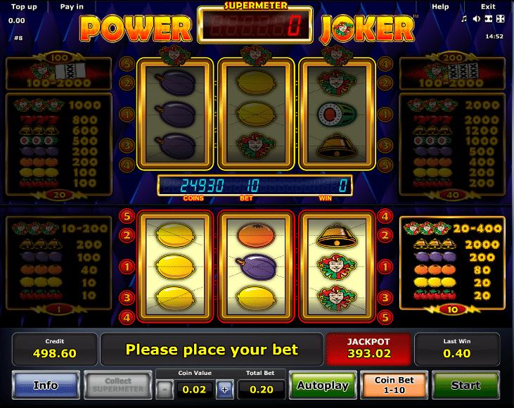Jolly joker slot machine game