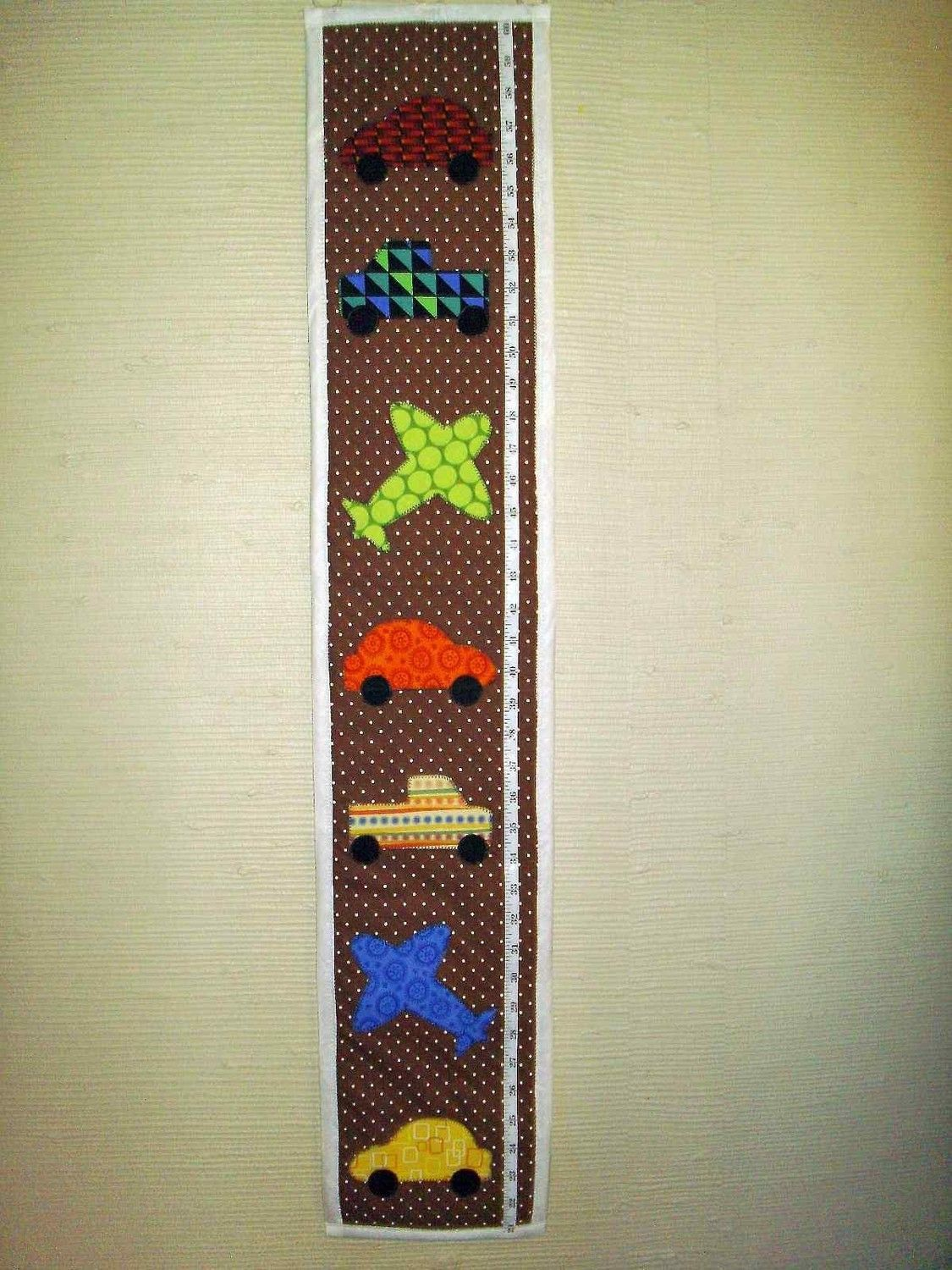 Boys Wall Hanging Growth Chart These Patterns Totally Clash But I