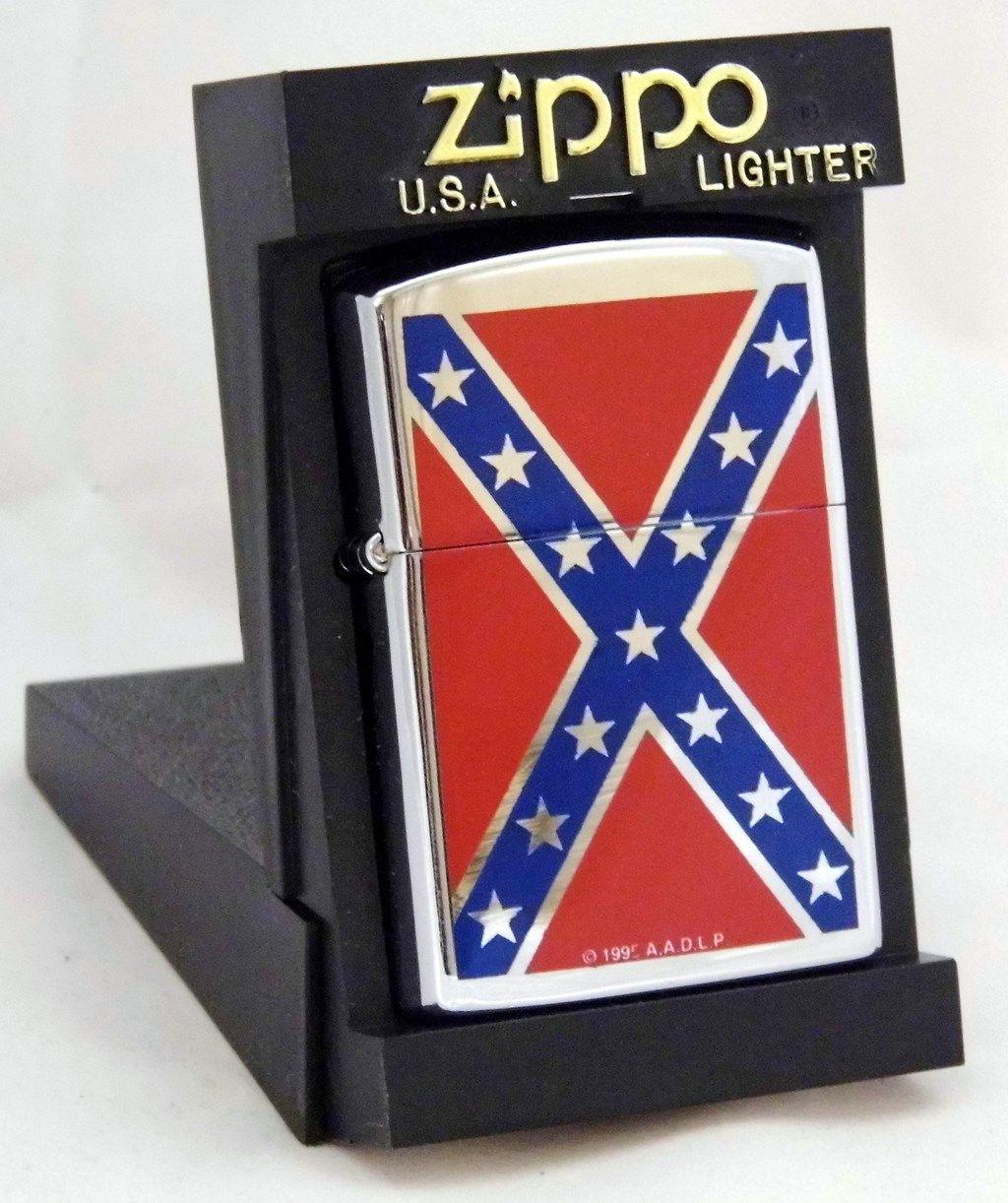 Zippo Windproof Cigarette Lighter - Confederate Flag | Cigarette