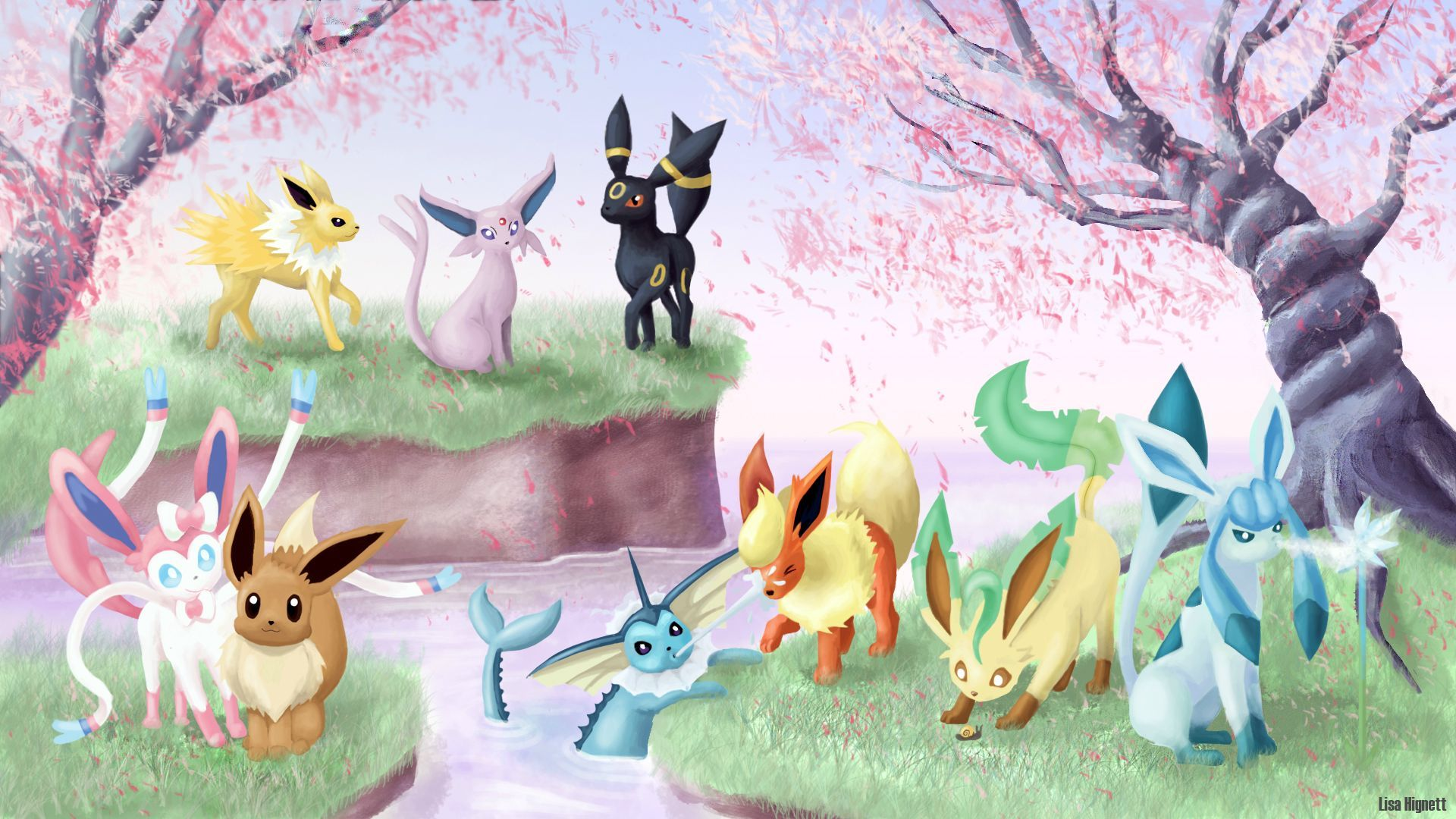 Eeveelutions Wallpapers Hd Free Download Pokemon Eeveelutions Eevee Wallpaper Pokemon Eevee